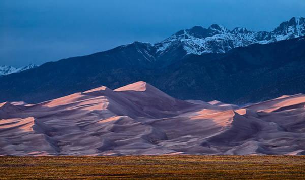 Colorado Sunset Photograph - Great Sand Dunes  Colorado by Steve Gadomski