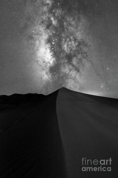 Photograph - Great Sand Dunes Milky Way Bw by Michael Ver Sprill
