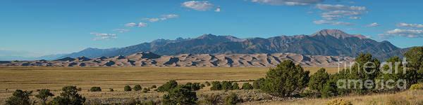 Great Sand Dunes National Park Photograph - Great Sand Dunes National Park Panorama  by Michael Ver Sprill