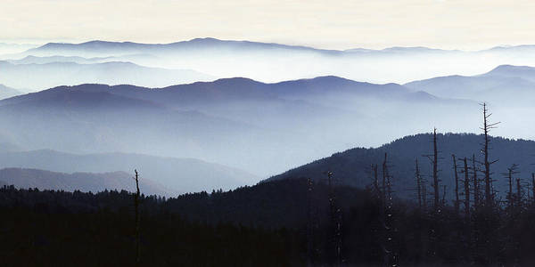 Photograph - Great Smoky Mountain Vista Panorama by Randall Nyhof
