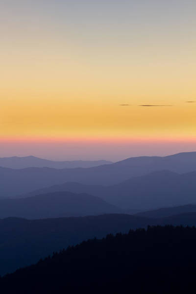Photograph - Great Smoky Mountains Sunset From Climgmans Dome by Pierre Leclerc Photography