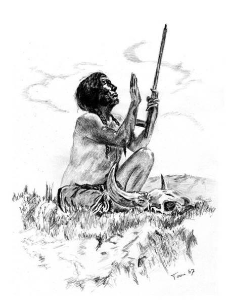 Drawing - Great Spirit by Toon De Zwart