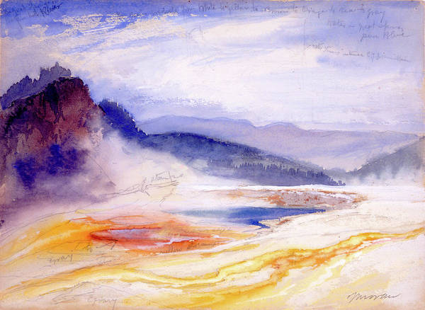 Wall Art - Painting - Great Springs Of The Fire Hole River by Thomas Moran