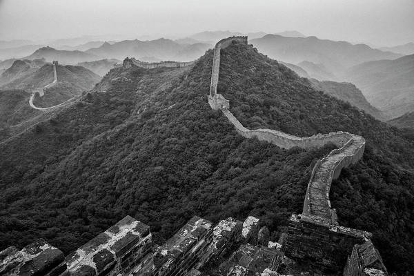 Photograph - Great Wall 2, Jinshanling, 2016 by Hitendra SINKAR