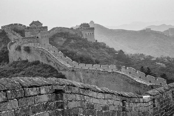 Photograph - Great Wall 7, Jinshanling, 2016 by Hitendra SINKAR