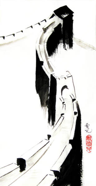 Painting - Great Wall Of China by Oiyee At Oystudio