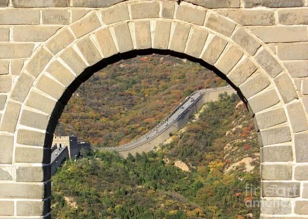 Wall Art - Photograph - Great Wall Through Archway by Carol Groenen