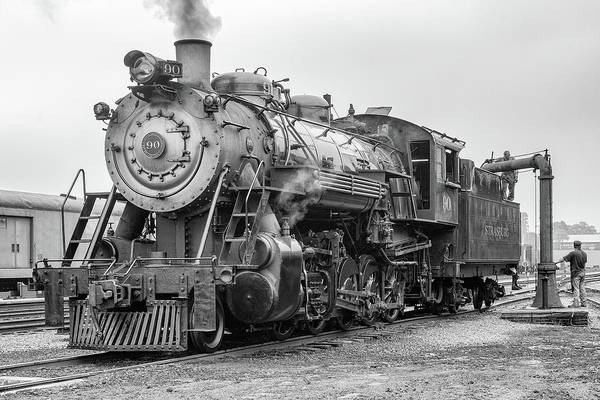 Wall Art - Photograph - Great Western 90 Servicing by Jeff Abrahamson