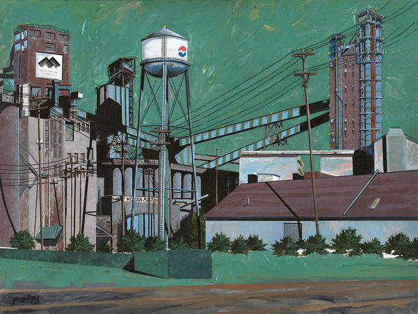 Industrial Painting - Great Western Malting by John Wyckoff
