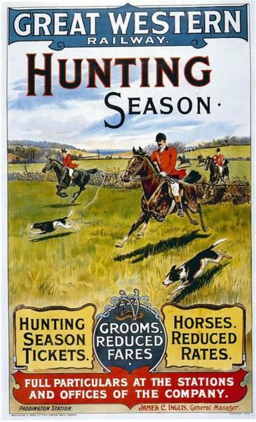 Season Mixed Media - Great Western Railway - Hunting Season - Retro Travel Poster - Vintage Poster by Studio Grafiikka