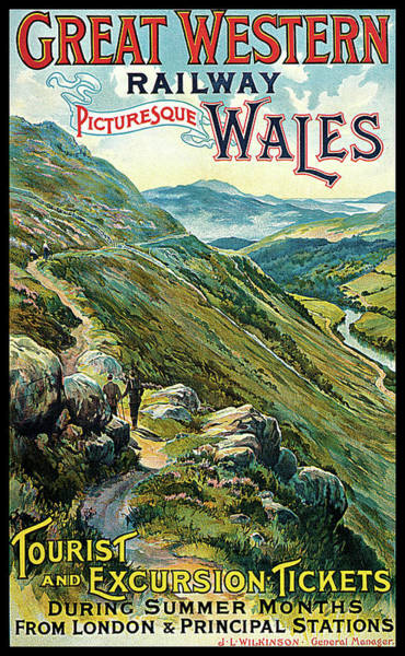 Photograph - Great Western Railway Picturesque Wales by William Tomkin