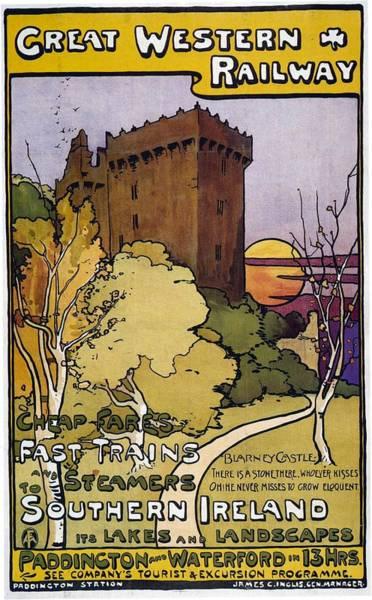Ireland Mixed Media - Great Western Railway - Southern Ireland - Retro Travel Poster - Vintage Poster by Studio Grafiikka