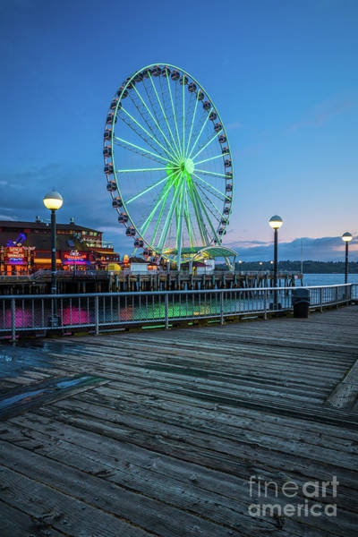 Wall Art - Photograph - Great Wheel And Boardwalk by Inge Johnsson