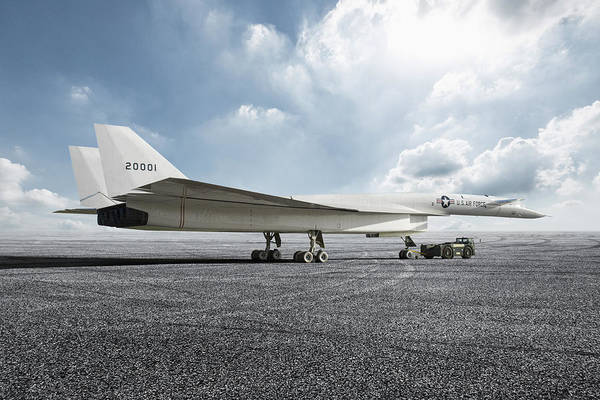 Nuclear Bomber Wall Art - Digital Art - Great White Bird by Peter Chilelli