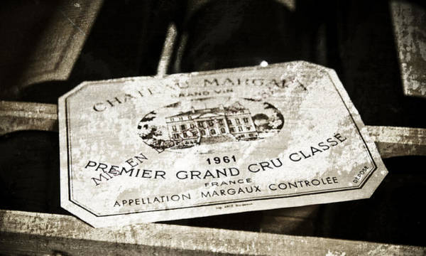 Aged Mixed Media - Great Wines Of Bordeaux - Chateau Margaux 1961 by Frank Tschakert