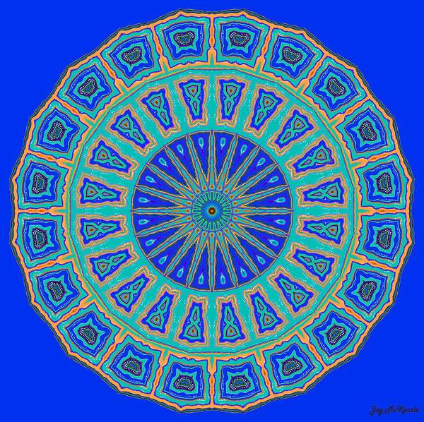 Psychedelia Digital Art - Grecian Tiles No. 2 by Joy McKenzie