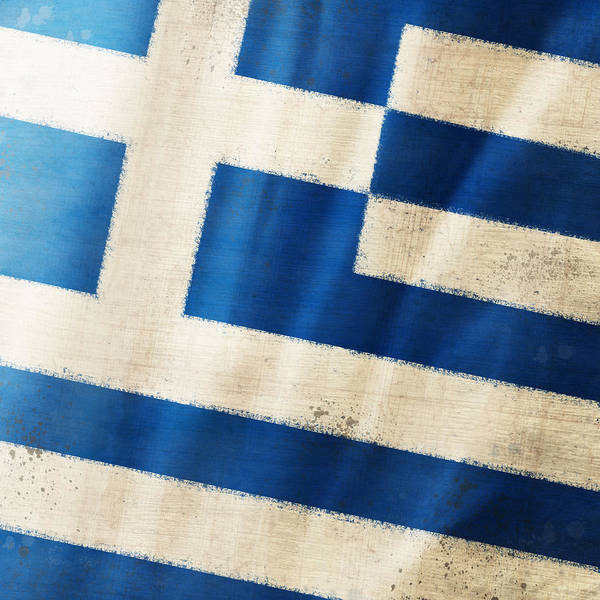 Wall Art - Photograph - Greece Flag by Setsiri Silapasuwanchai