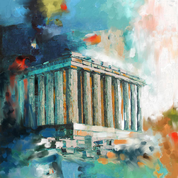 Greece Painting - Greece Temple Acropolis 169 2  by Mawra Tahreem