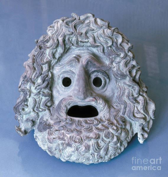 Photograph - Greece: Theatrical Mask by Granger