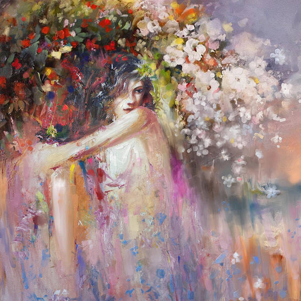Greek House Painting - Greece Woman 171 1 by Mawra Tahreem