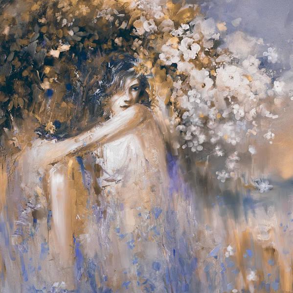 Greek House Painting - Greece Woman 174 3  by Mawra Tahreem