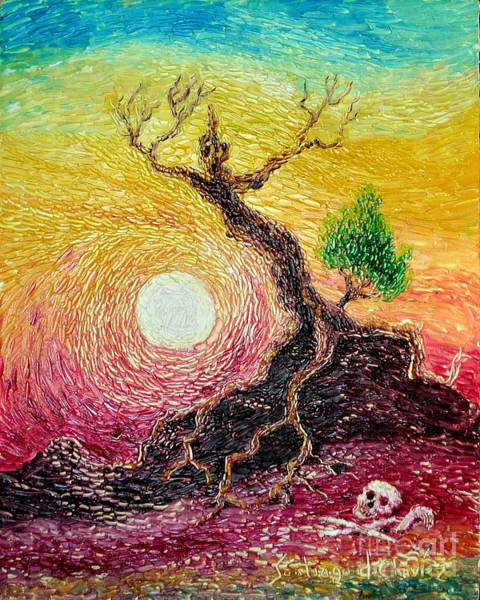 Painting - Greed- Homage To Van Gogh by Santiago Chavez