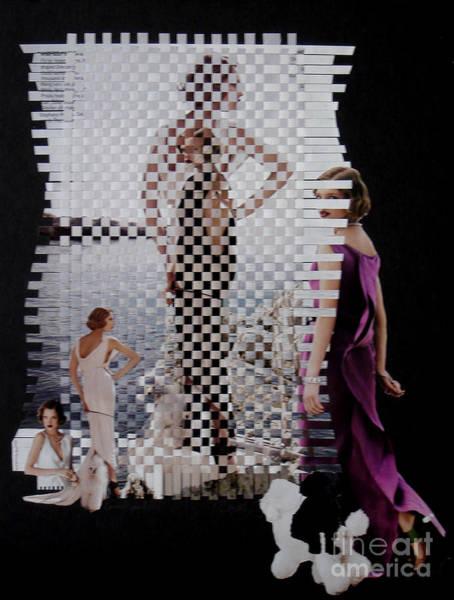 Paper Dress Mixed Media - Greek Goddess by David m Morgan
