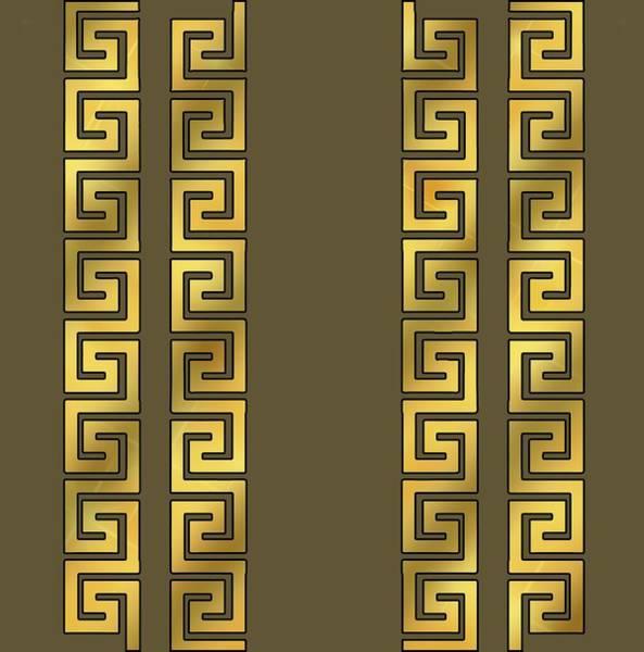 Greek Gold Pattern - Chuck Staley Art Print