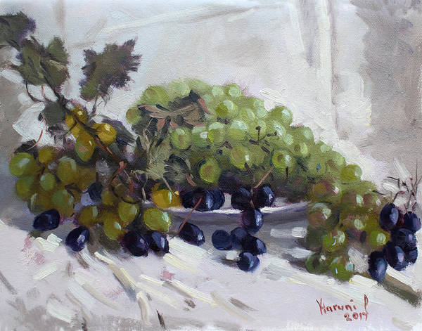 Ancient Painting - Greek Grapes by Ylli Haruni