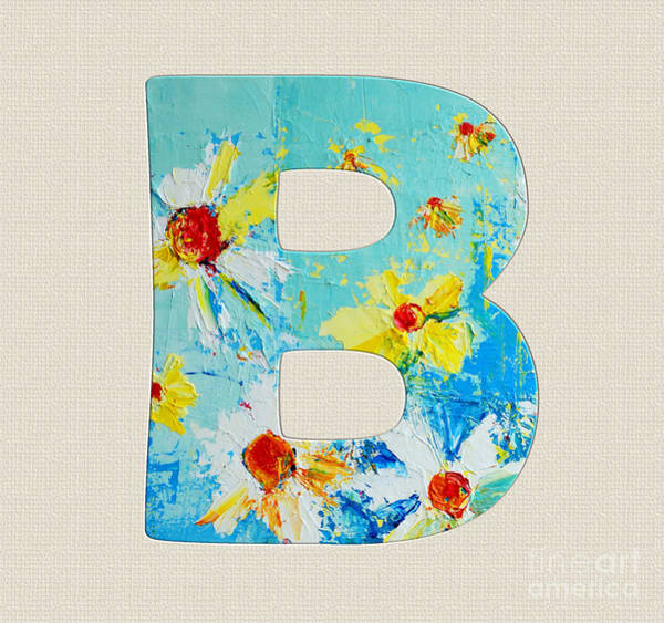 Painting - Letter B Roman Alphabet-  A Floral Expression Of Typography Art by Patricia Awapara