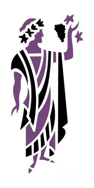 Digital Art - Greek Man In Purple by Donna Mibus