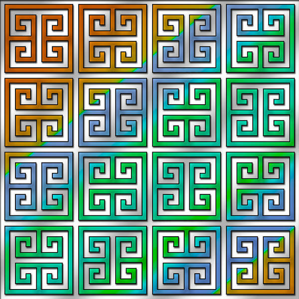 Digital Art - Greek Pattern 6 by Chuck Staley