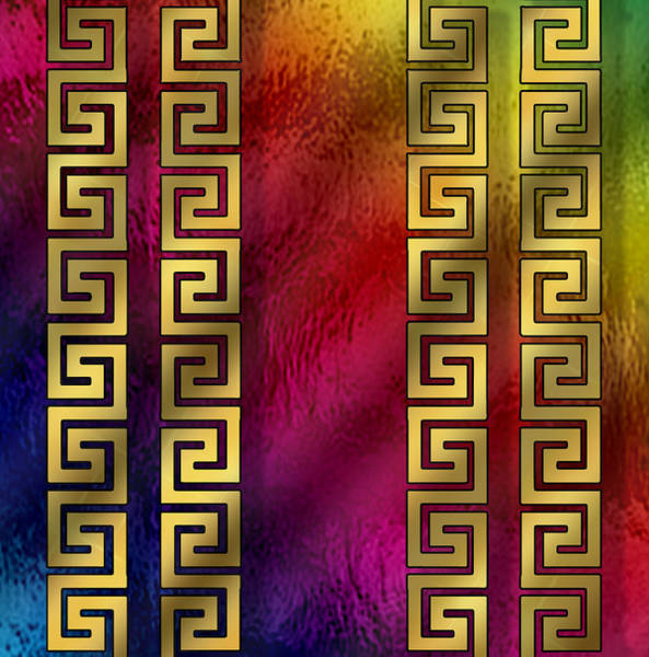 Digital Art - Greek Pattern On Glass by Chuck Staley