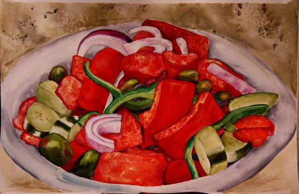 Greek Salad Art Print