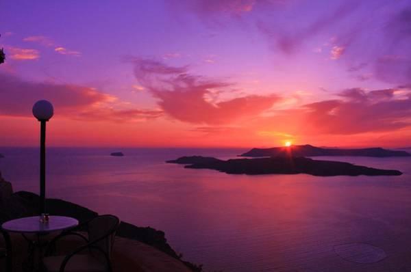Wall Art - Photograph - Greek Sundown by Kim Doyoung