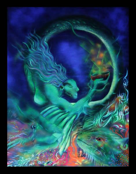 Blacklight Painting - Greekmermaid by Sara Jimenez