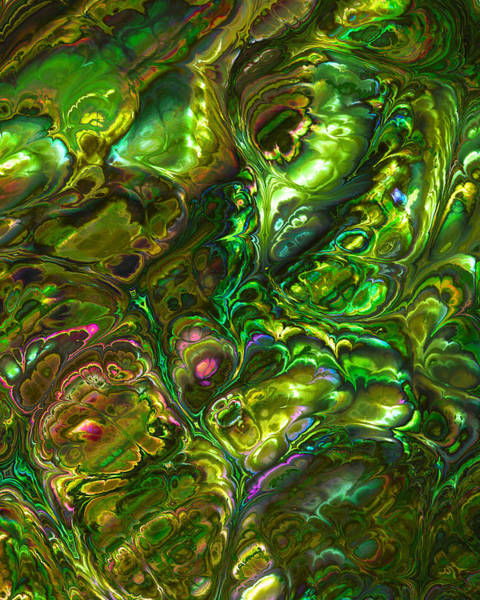 Mixed Media - Green Abalone Abstract by Frank Lee Hawkins