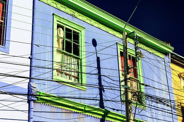 Photograph - Green And Blue In Valparaiso Chile by John Rizzuto