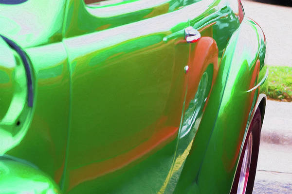 Otp Photograph - Green And Red Reflections by Marshall Barth