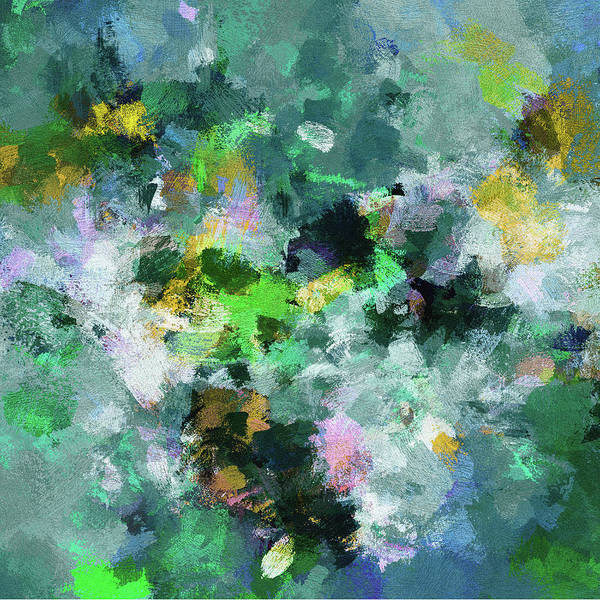Painting - Green And Yellow Abstract Art by Inspirowl Design