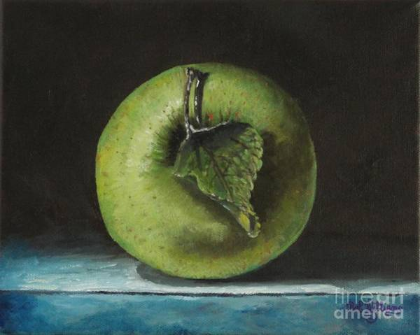 Painting - Green And Yellow Apple by Bob Williams