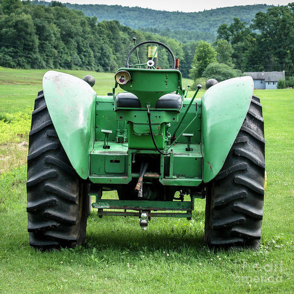 Photograph - Green And Yellow Vintage Tractor by Edward Fielding