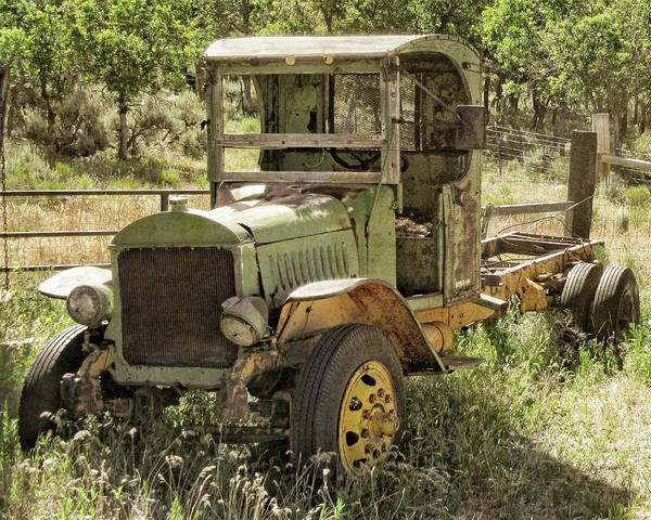 Photograph - Green Antique Mack by David King