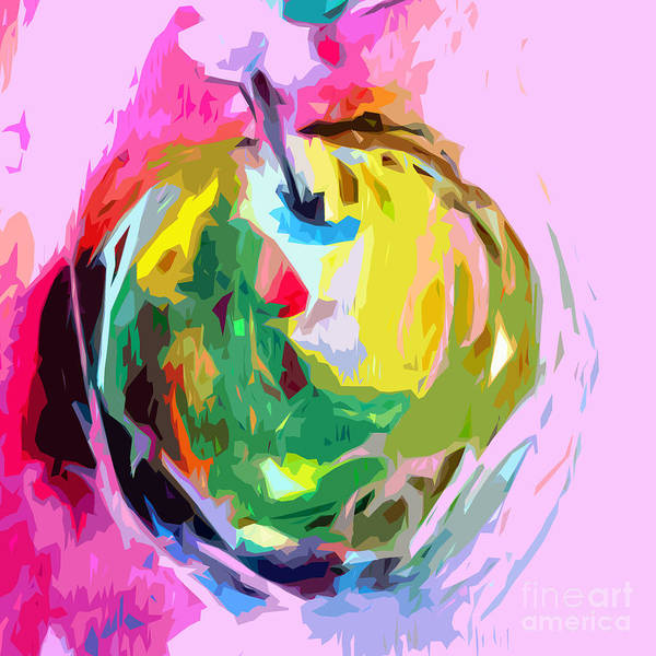 Painting - Green Apple I by Tracy-Ann Marrison