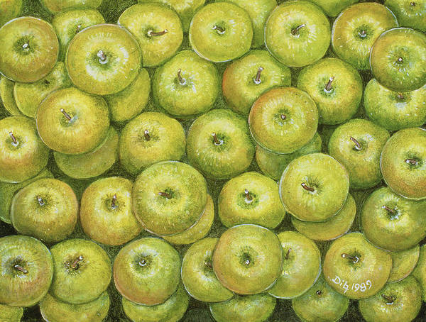 Apple Orchard Painting - Green Apple Spread by Ditz