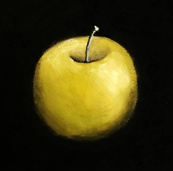 Wall Art - Painting - Green Apple Still Life 2.0 by Michelle Calkins