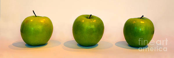 Wall Art - Photograph - Green Apple Trio by Catherine Sherman