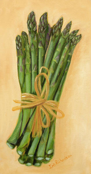 Wall Art - Photograph - Green Asparagus by Iris Richardson