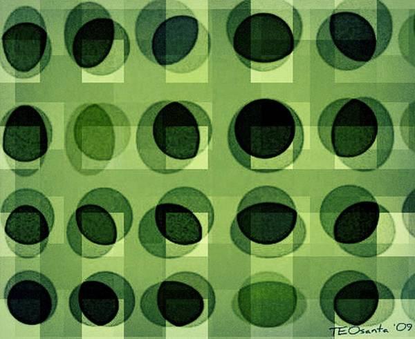 Digital Art - Green Astigmatism by Teodoro De La Santa
