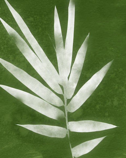 Wall Art - Mixed Media - Green Bamboo 2- Art By Linda Woods by Linda Woods